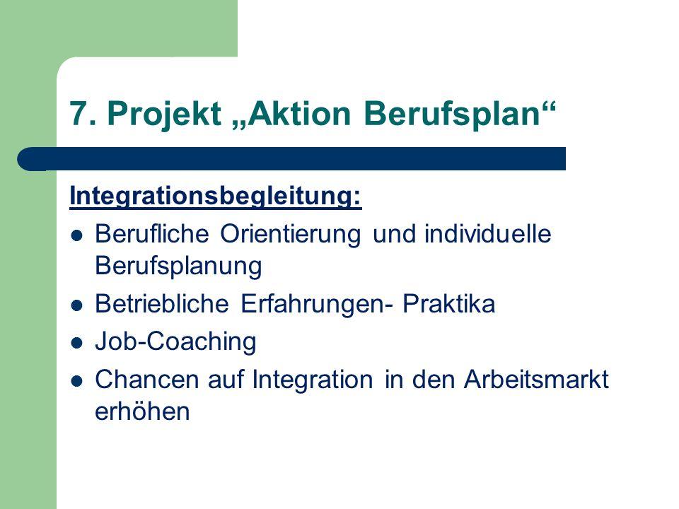 Integrationsbegleitung: Berufliche Orientierung und individuelle Berufsplanung Betriebliche Erfahrungen- Praktika Job-Coaching Chancen auf Integration