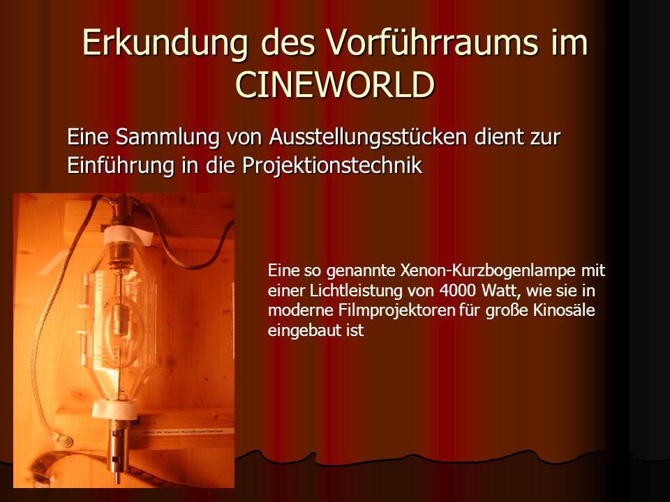 Erkundung des Vorführraums im CINEWORLD Der Vorführer legt den Film ein…