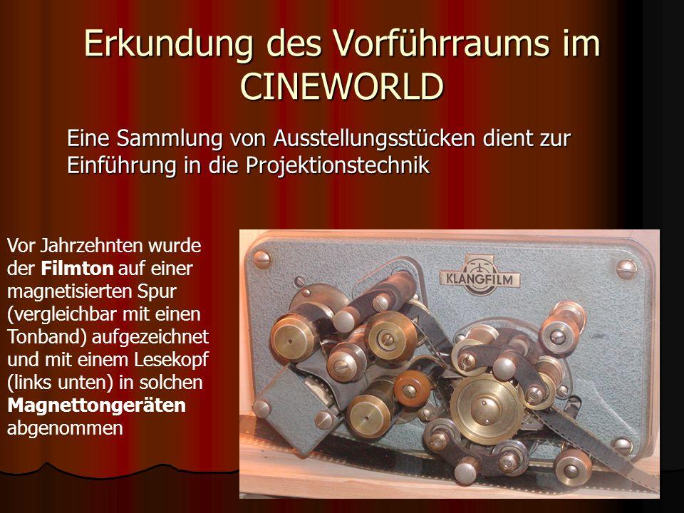 Erkundung des Vorführraums im CINEWORLD Der Vorführer legt den Film ein… Fertig!