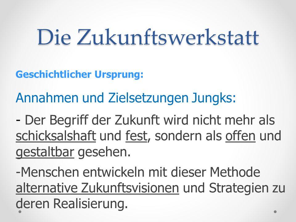 Die Zukunftswerkstatt Die drei Phasen der Zukunftswerkstatt: 3.