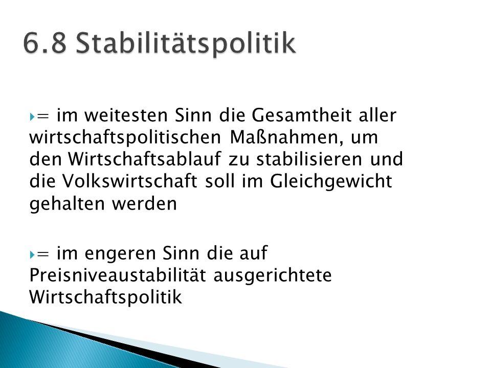 = im weitesten Sinn die Gesamtheit aller wirtschaftspolitischen Maßnahmen, um den Wirtschaftsablauf zu stabilisieren und die Volkswirtschaft soll im G