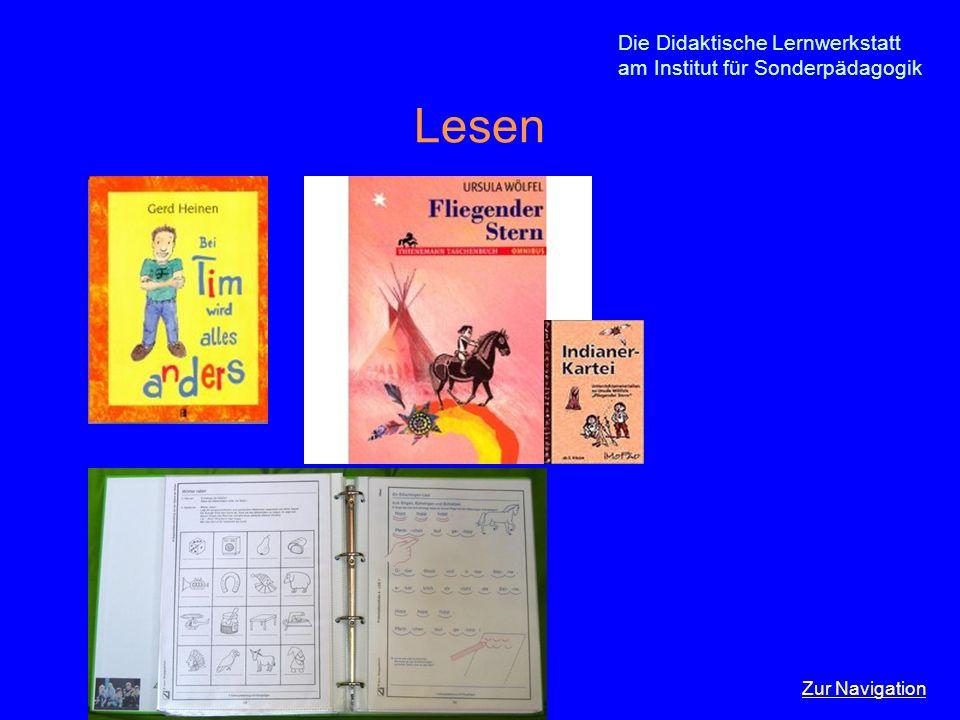 Die Didaktische Lernwerkstatt am Institut für Sonderpädagogik Lesen Zur Navigation