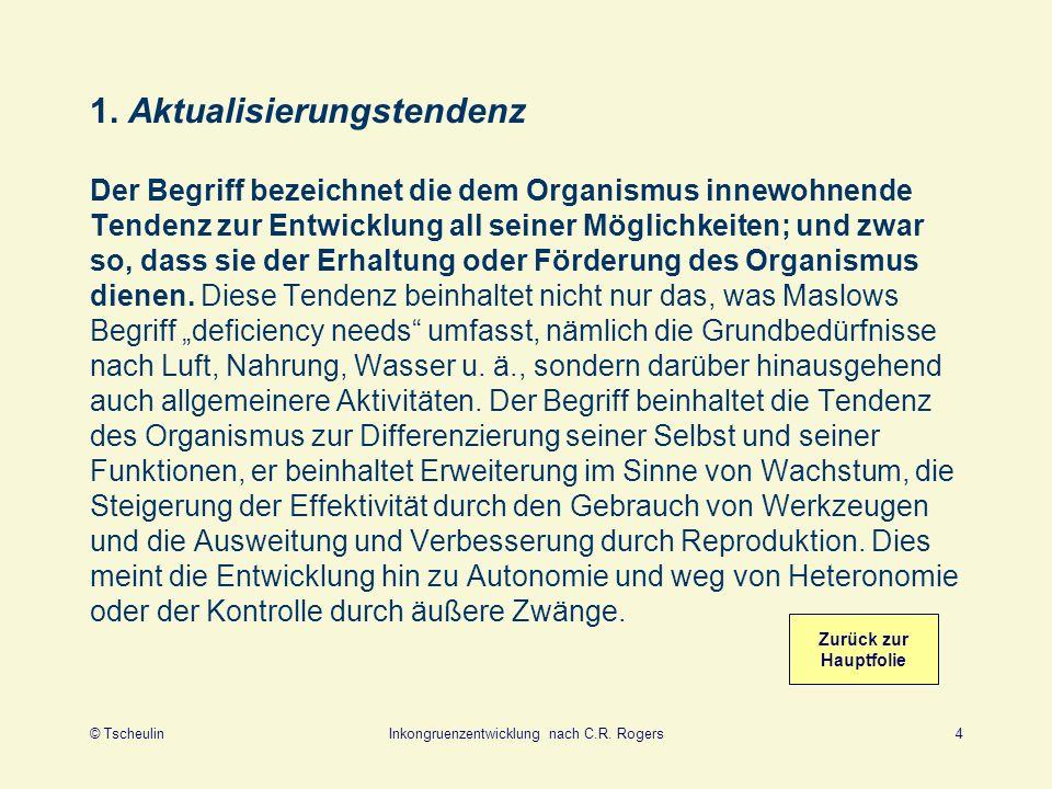 © TscheulinInkongruenzentwicklung nach C.R.