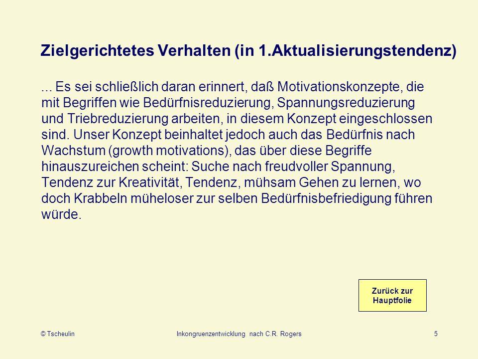 © TscheulinInkongruenzentwicklung nach C.R.Rogers6 Sensorische und viszerale r s (in 3.