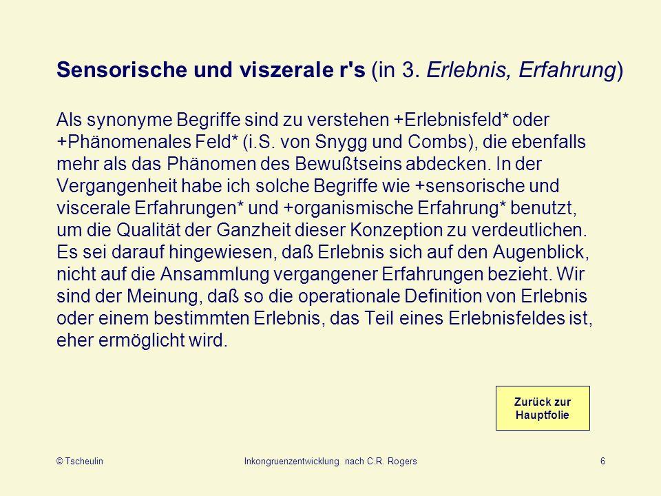 © TscheulinInkongruenzentwicklung nach C.R.Rogers7 4.