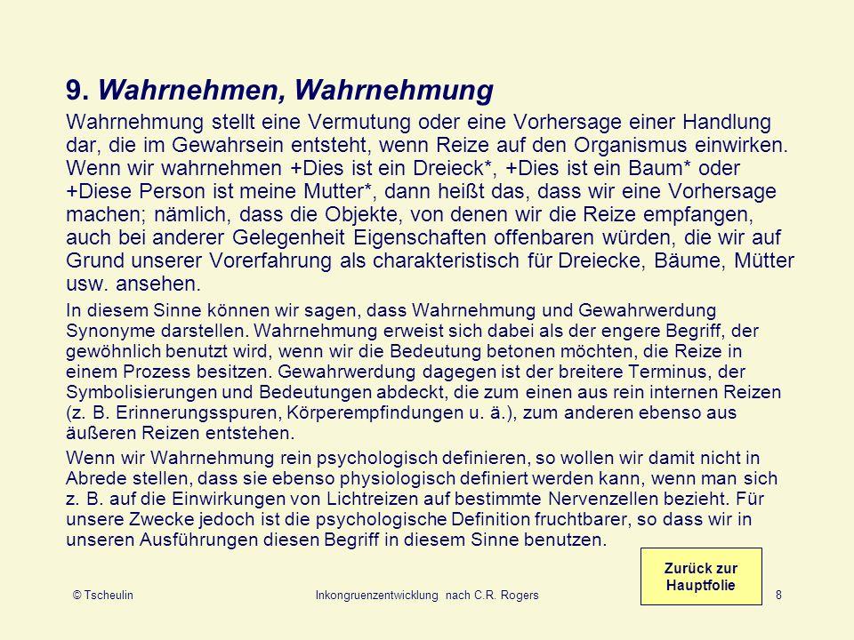 © TscheulinInkongruenzentwicklung nach C.R.Rogers19 35.