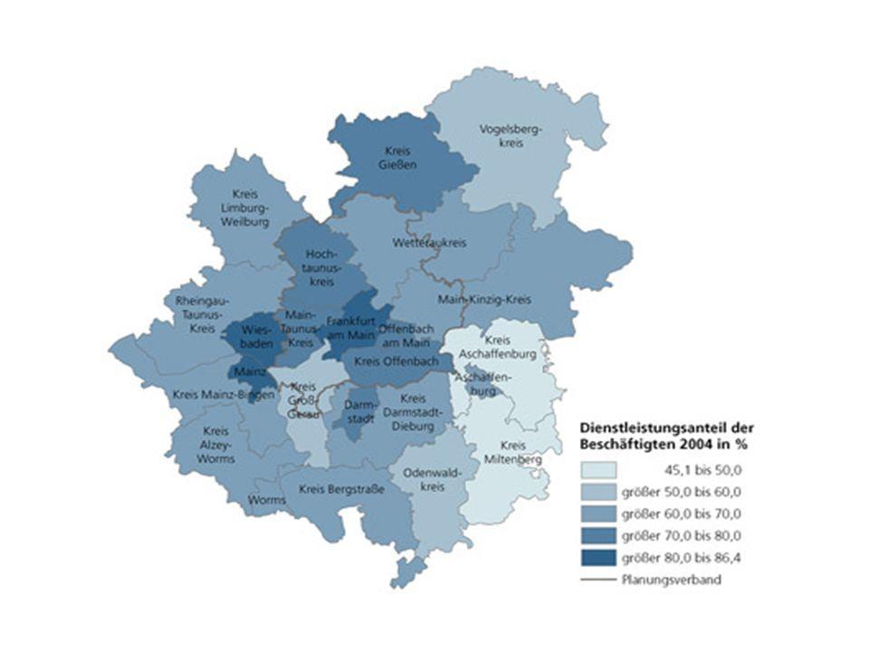 Wirtschaft Region Frankfurt/ Rhein-Main gehört zu den leistungsstärksten und dynamischsten Regionen in Europa (verkehrsgünstige Lage im Zentrum Deutsc