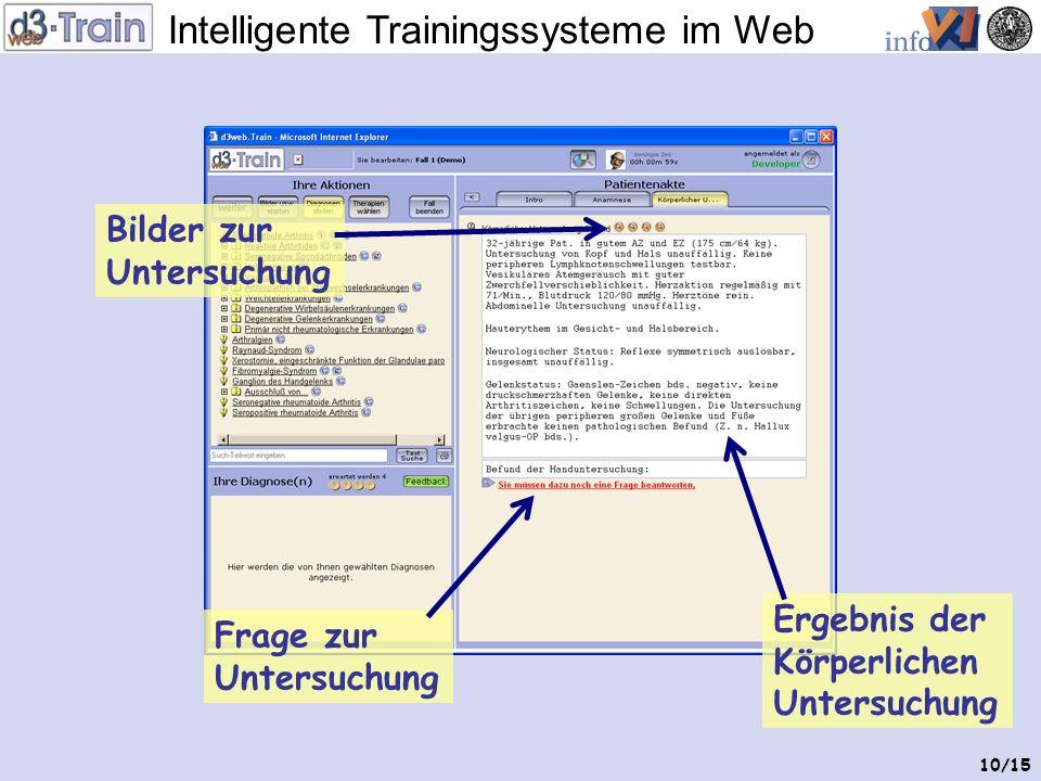 Intelligente Trainingssysteme im Web 9/15 Ergebnis der Anamnese 2:00/3:50