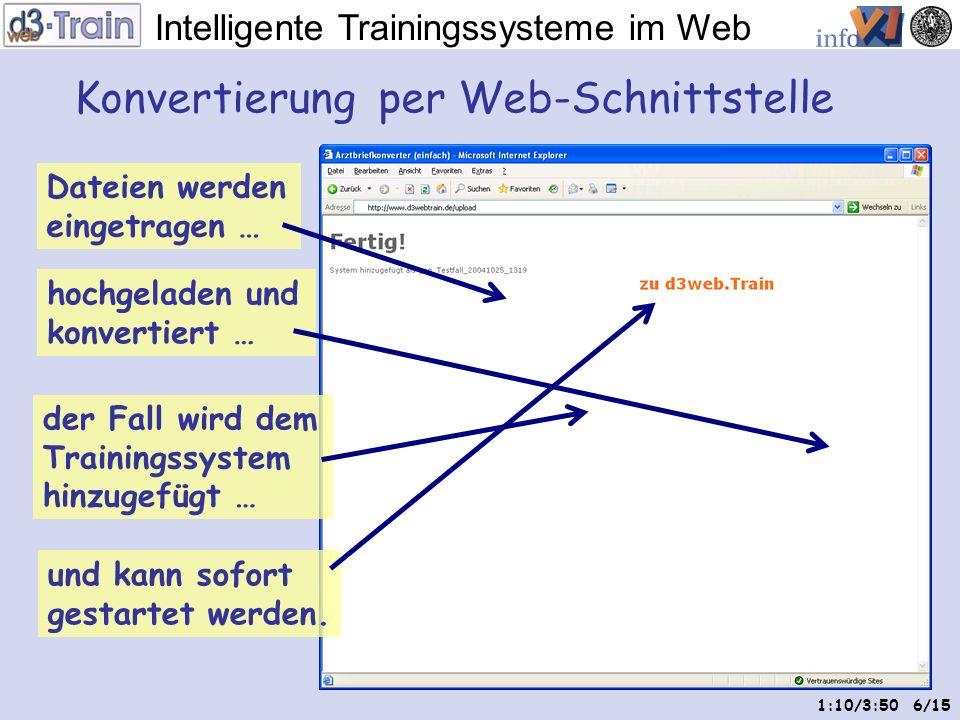 Intelligente Trainingssysteme im Web 5/15 Bilder zur Untersuchung Hinzufügen von Zwischendiagnosen Original-Arztbrief wird nachbearbeitet … Frage zur