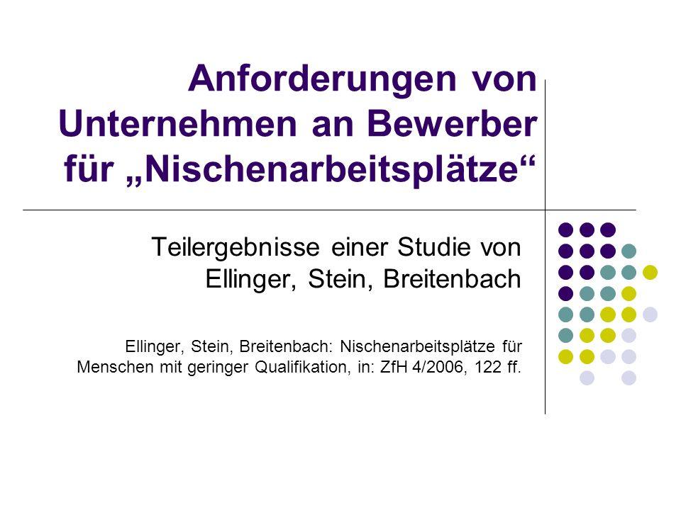Forschungskontext: Nischensuche Kooperation Inst.f.
