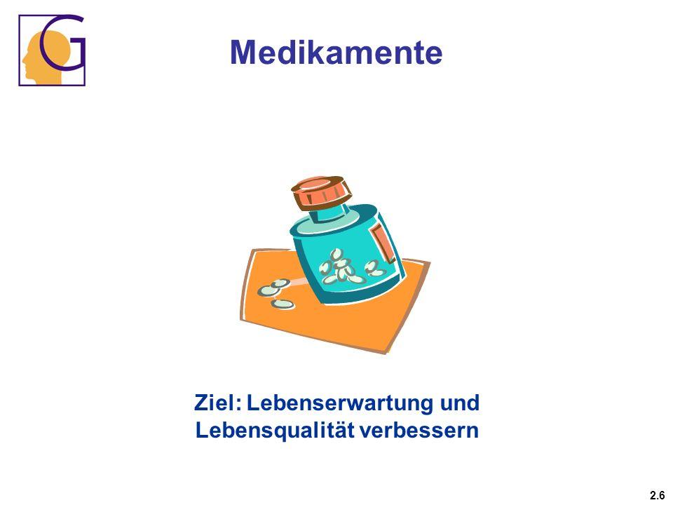 Medikamente 2.6 Ziel: Lebenserwartung und Lebensqualität verbessern