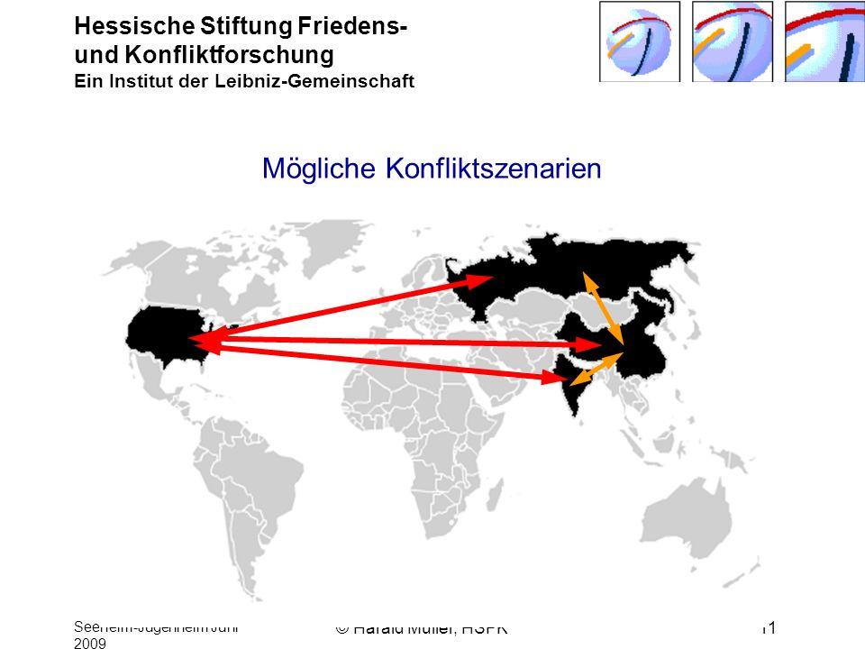 Hessische Stiftung Friedens- und Konfliktforschung Ein Institut der Leibniz-Gemeinschaft Seeheim-Jugenheim Juni 2009 © Harald Müller, HSFK11 Mögliche