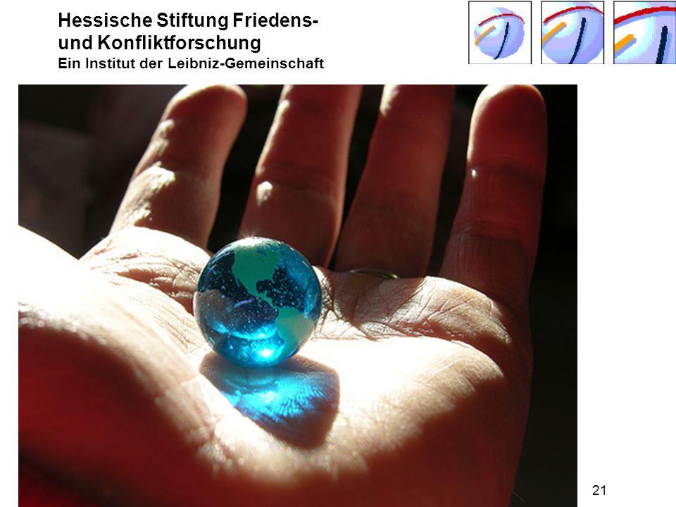 Hessische Stiftung Friedens- und Konfliktforschung Ein Institut der Leibniz-Gemeinschaft Seeheim-Jugenheim Juni 2009 © Harald Müller, HSFK21