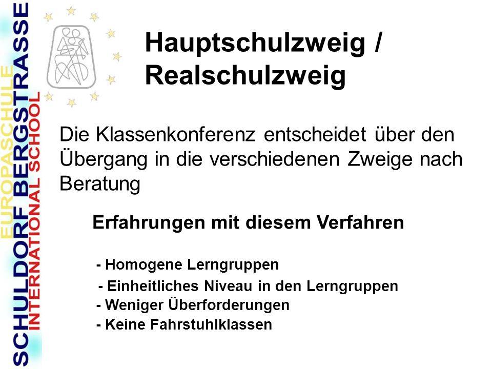 Realschulschulzweig Abschlussprüfungen Hausarbeit mit Präsentation oder mündliche Prüfung Zentrale schriftliche Abschlussarbeiten: Deutsch Englisch Mathematik
