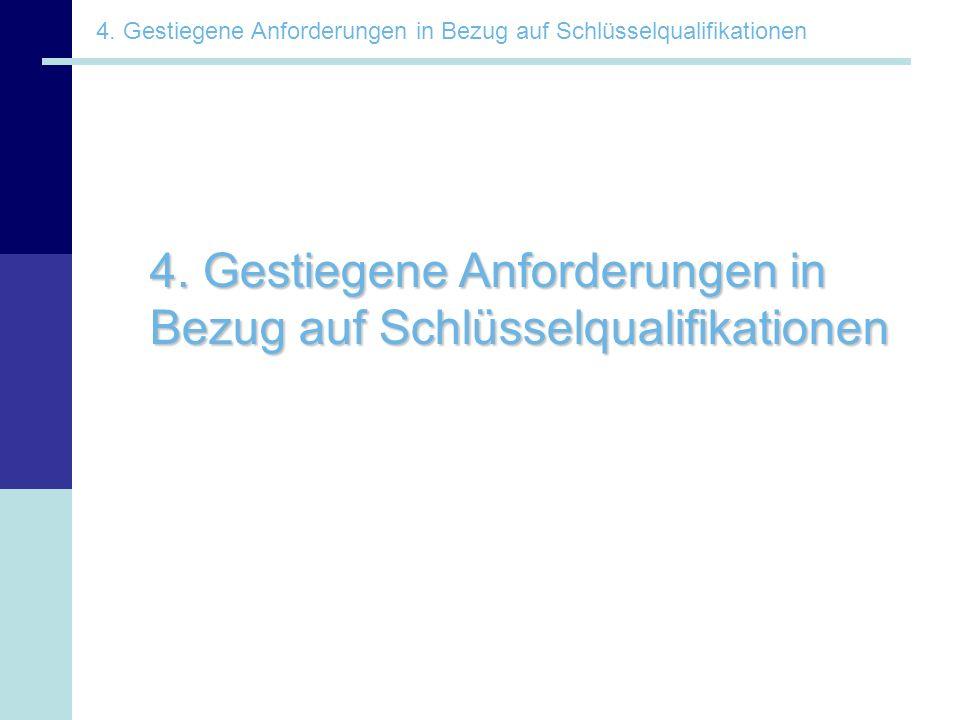 4. Gestiegene Anforderungen in Bezug auf Schlüsselqualifikationen