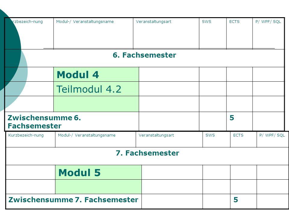 Arbeitslehre Wittel KurzbezeichnungModul-/ VeranstaltungsnameVeranstaltungsartSWSECTSP/ WPF/ SQL 1.