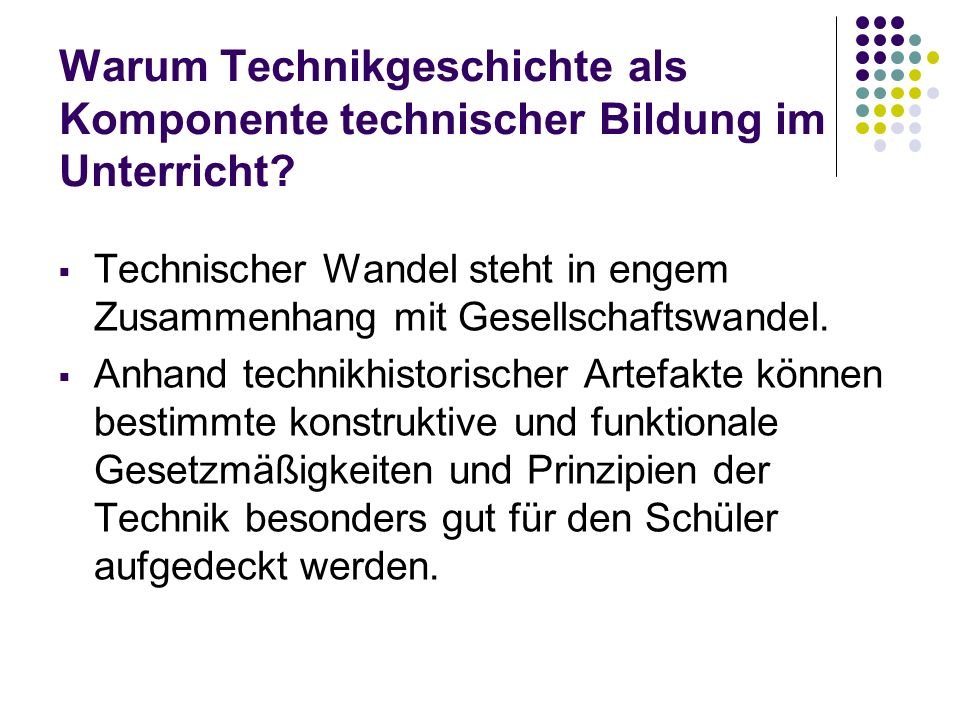 Inhaltliches Erschließungsschema für technikgeschichtl.
