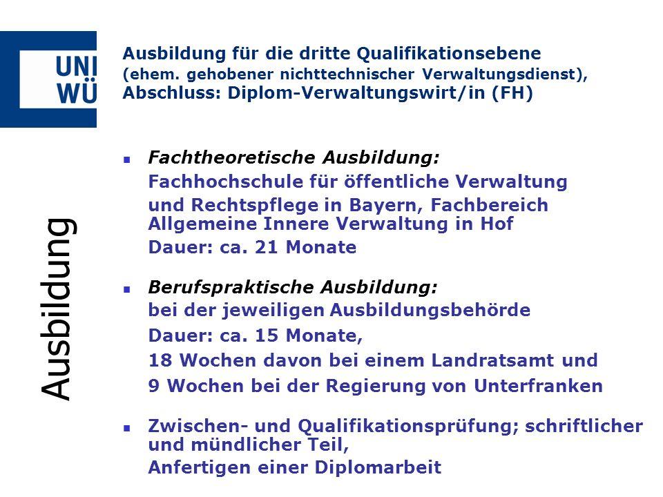Fachtheoretische Ausbildung: Fachhochschule für öffentliche Verwaltung und Rechtspflege in Bayern, Fachbereich Allgemeine Innere Verwaltung in Hof Dau
