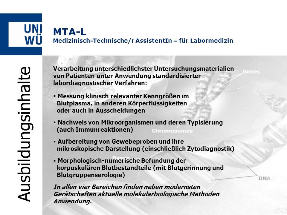 Verarbeitung unterschiedlichster Untersuchungsmaterialien von Patienten unter Anwendung standardisierter labordiagnostischer Verfahren: Messung klinis