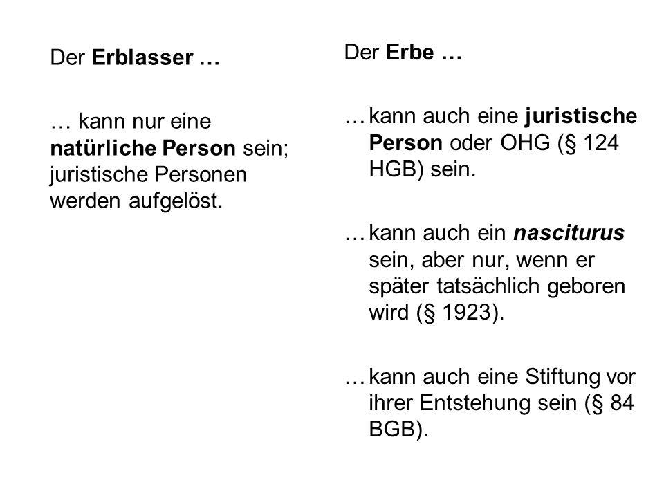 Die Auseinandersetzung der Erbengemeinschaft … … kann jederzeit verlangt werden, § 2042 Abs.