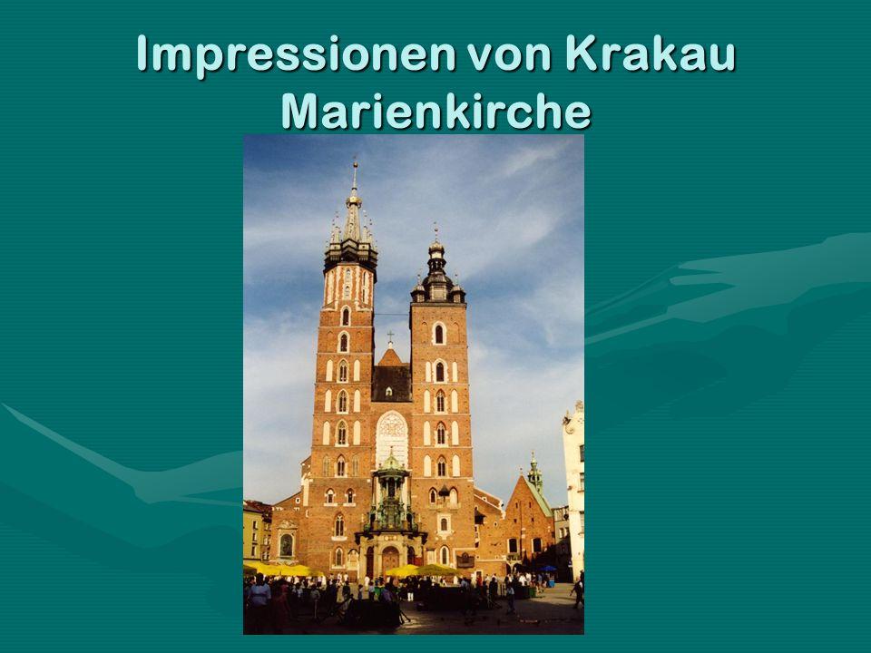 Impressionen von Krakau Marienkirche