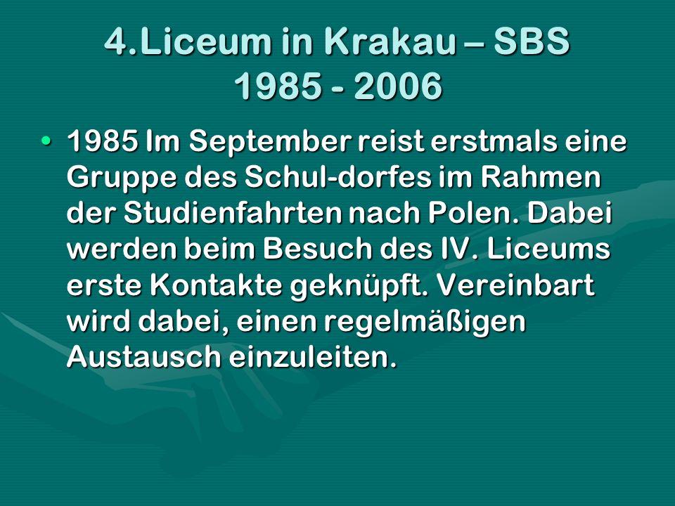 1987 Im Februar besucht eine erste Gruppe des IV.Liceums das Schuldorf.