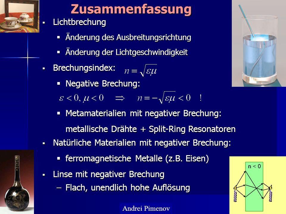 Lichtbrechung Lichtbrechung Änderung des Ausbreitungsrichtung Änderung des Ausbreitungsrichtung Änderung der Lichtgeschwindigkeit Änderung der Lichtge