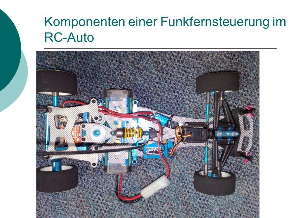 Komponenten einer Funkfernsteuerung im RC-Auto