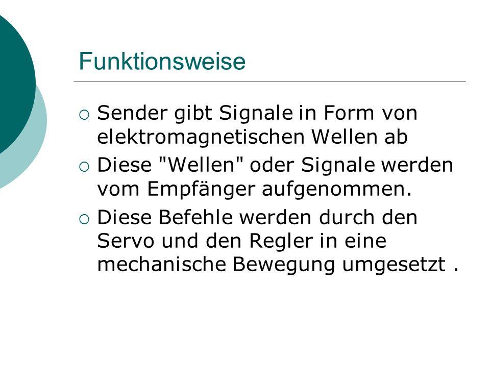 Funktionsweise Sender gibt Signale in Form von elektromagnetischen Wellen ab Diese Wellen oder Signale werden vom Empfänger aufgenommen.