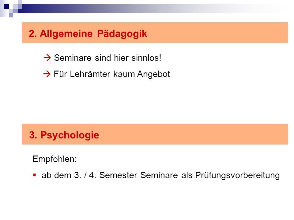 2.Allgemeine Pädagogik Seminare sind hier sinnlos.