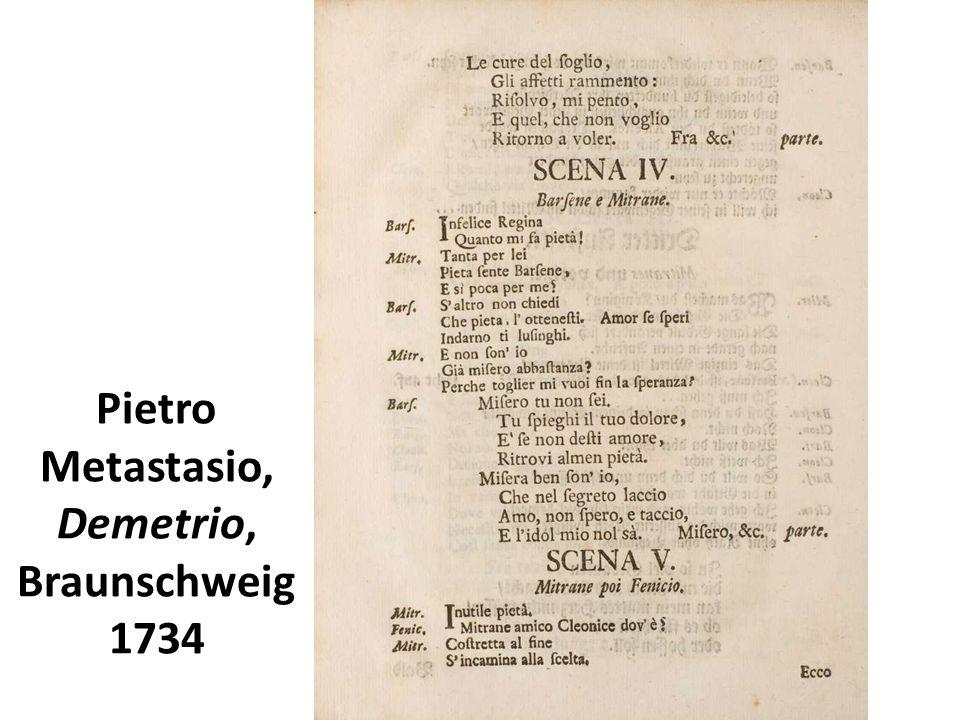 Pietro Metastasio, Demetrio, Braunschweig 1734