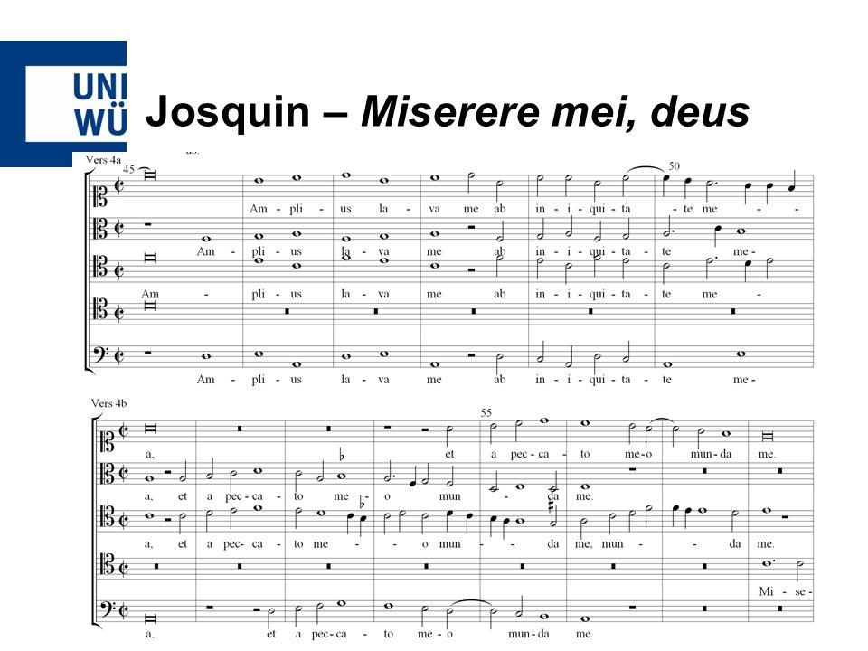 Josquin – Miserere mei, deus