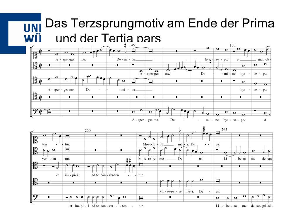 Das Terzsprungmotiv am Ende der Prima und der Tertia pars