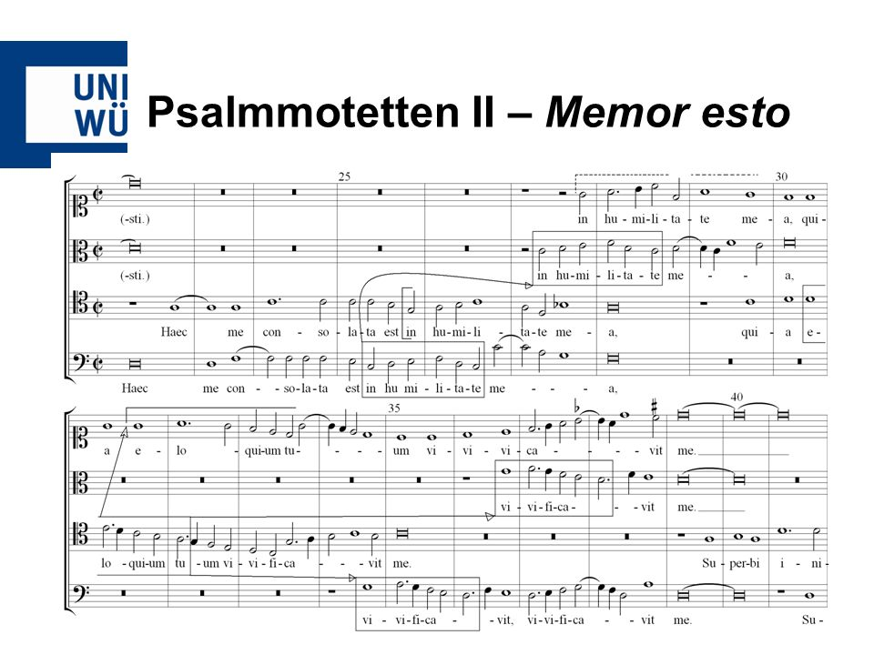 Psalmmotetten II – Memor esto