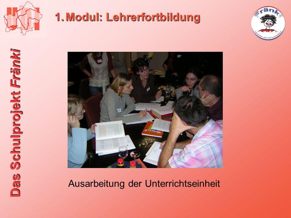 Das Schulprojekt Fränki 1.Modul: Lehrerfortbildung Ausarbeitung der Unterrichtseinheit