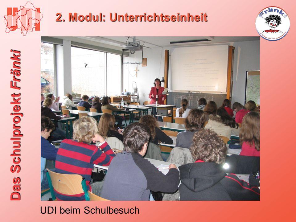 Das Schulprojekt Fränki 2. Modul: Unterrichtseinheit UDI beim Schulbesuch
