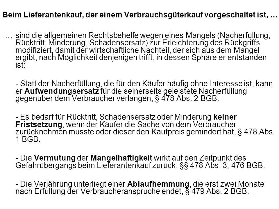 Beispiel: A bucht für sich und seine Lebensgefährtin B bei der R-Touristik zum Preis von 500 pro Person eine Pauschalreise über eine romantische Woche im Hotel H in Rothenburg ob der Tauber.