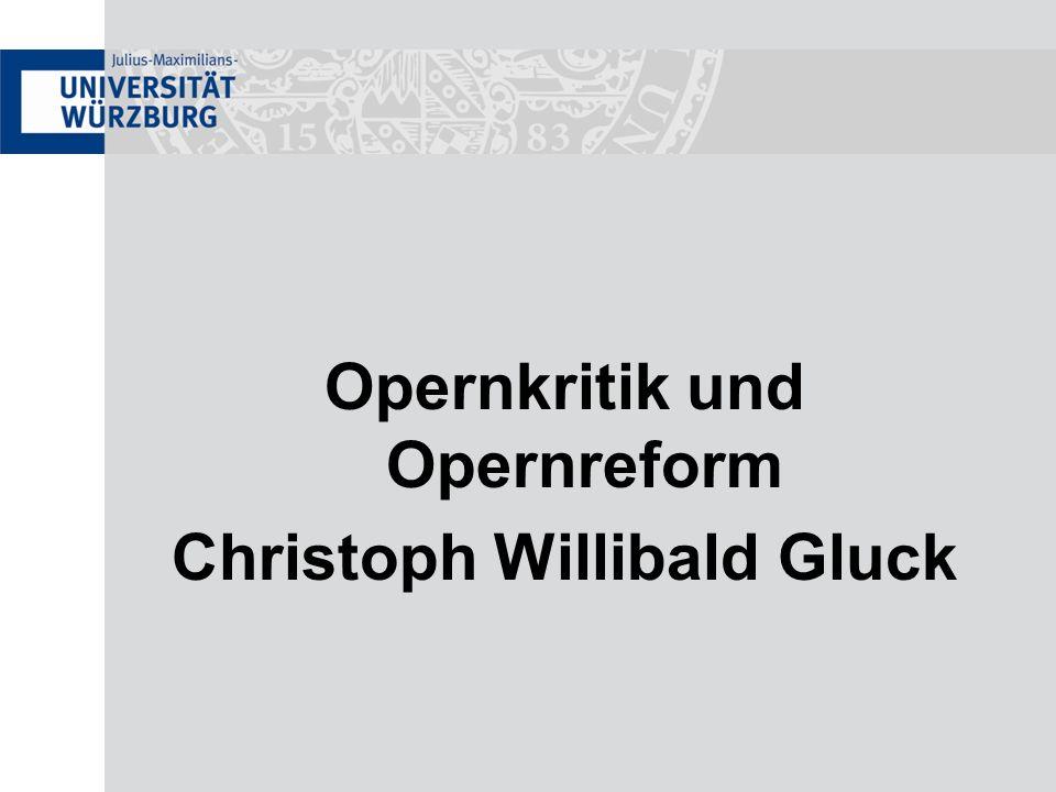 Gluck – Orfeo ed Euridice Den Abschluss der Oper bildet nach dem Ballo ein Vaudeville.