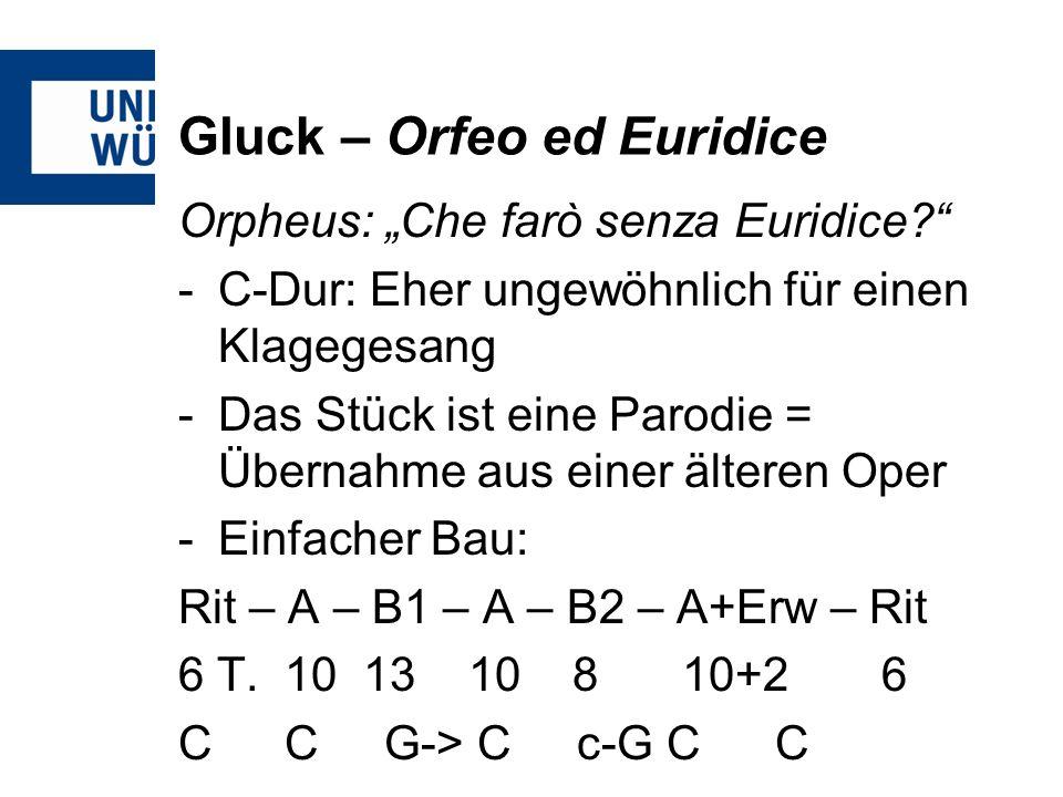 Gluck – Orfeo ed Euridice Orpheus: Che farò senza Euridice.