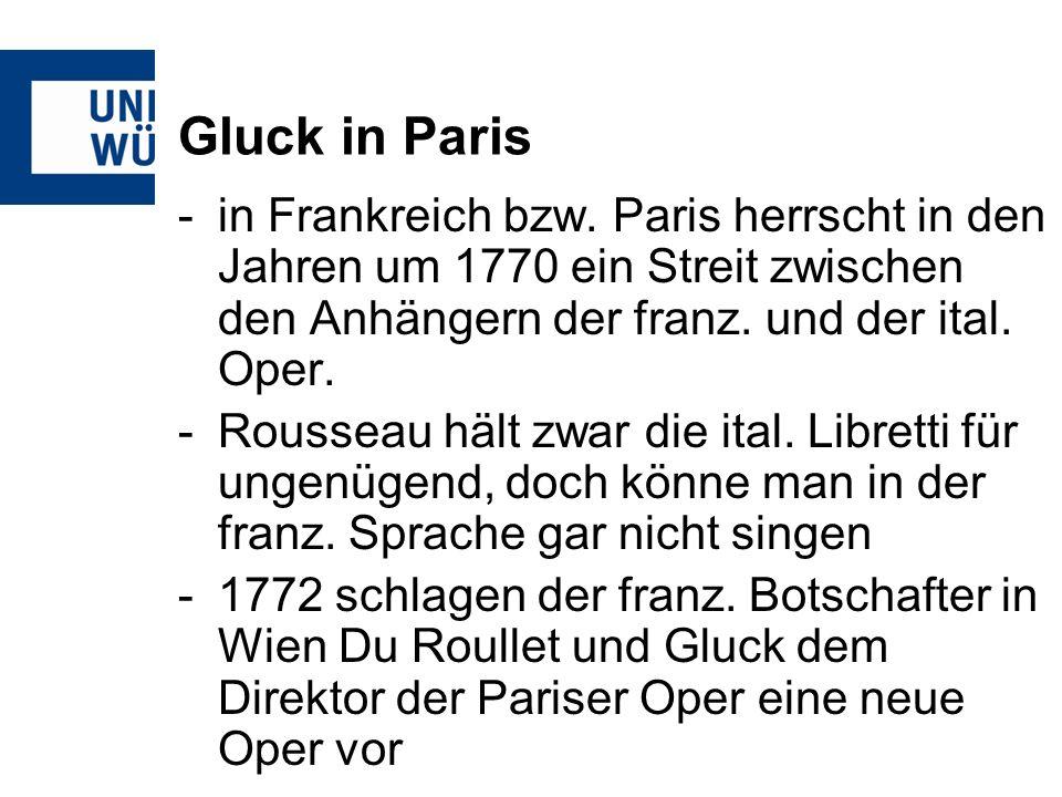 Gluck in Paris -in Frankreich bzw.