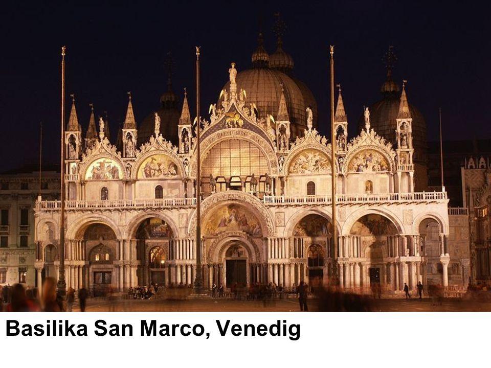 Musik an San Marco Die Musik an der Basilika San Marco zu Venedig hat eine bedeutende Tradition entwickelt, die sich in ganz Europa ausbreitete.