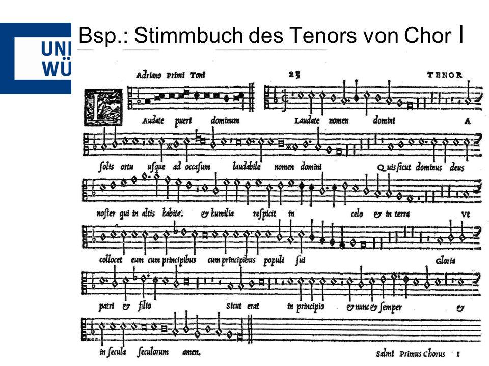 Andrea Gabrieli – Psalm 6 Bei Gabrieli finden sich einige den Text musikalisch ausdeutende Elemente: -Mens.