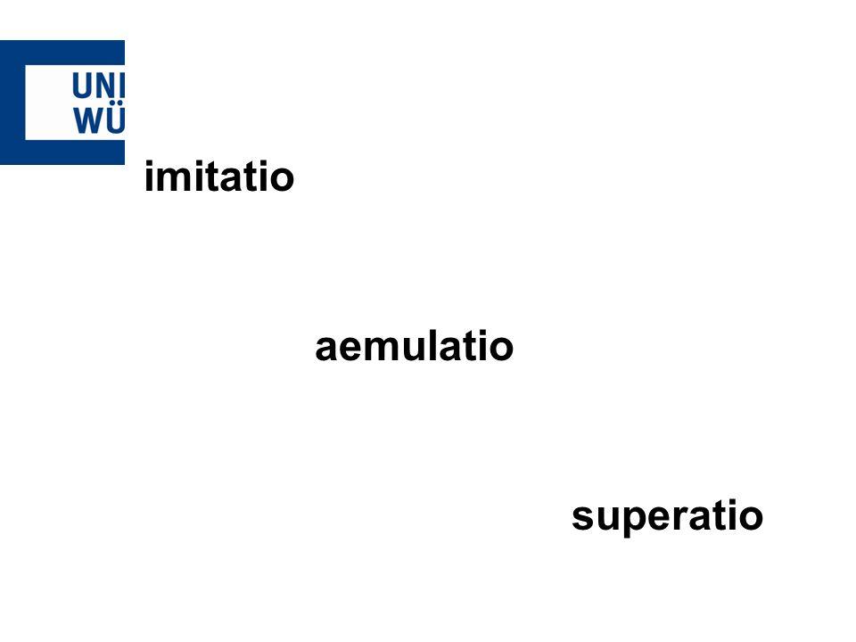 imitatio aemulatio superatio