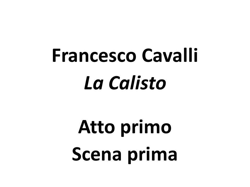 Venezianische Oper Cavalli: La Calisto Jupiter und Merkur eröffnen die Oper, indem sie die Situation der Erde in einem dialogischen Rezitativ besprechen.