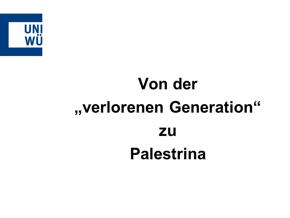 Von der verlorenen Generation zu Palestrina
