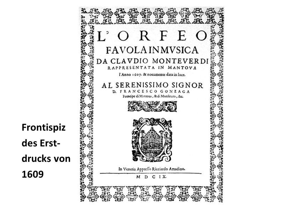 Frontispiz des Erst- drucks von 1609