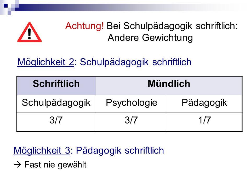 II.Schriftliche Prüfung Psychologie 1.