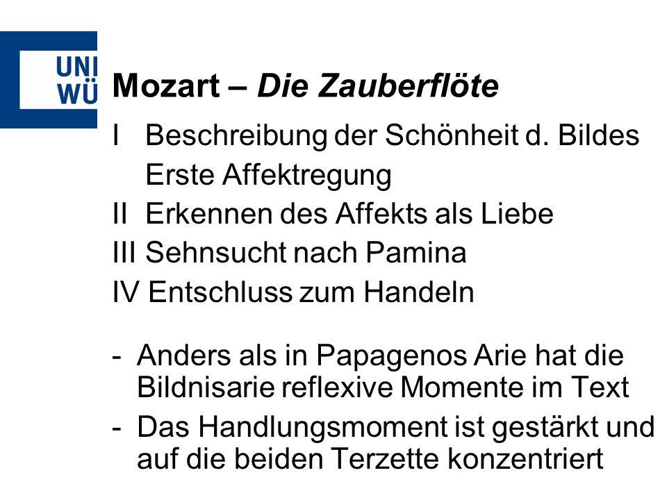 Mozart – Die Zauberflöte I Beschreibung der Schönheit d.