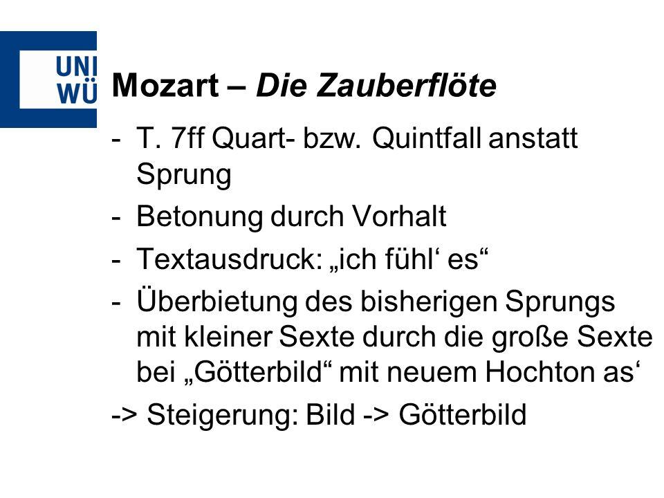 Mozart – Die Zauberflöte -T.7ff Quart- bzw.
