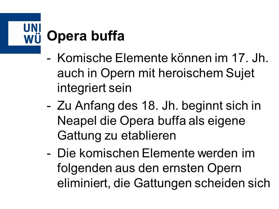 Opera buffa Beispiel Giovanni Battista Pergolesi La serva padrona